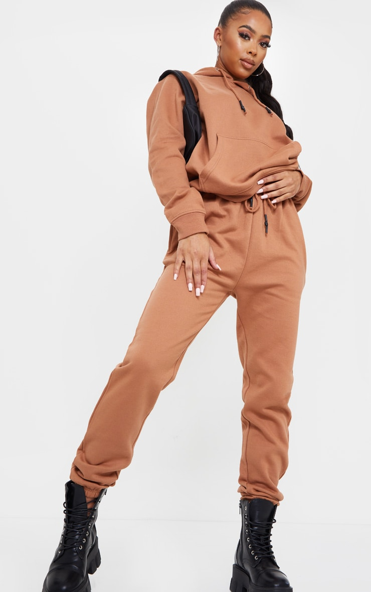 Tan Oversized Wax Toggle Hoodie 3