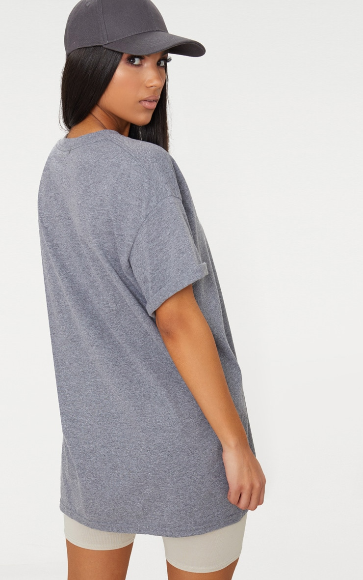 Charcoal Oversized Boyfriend T Shirt  2
