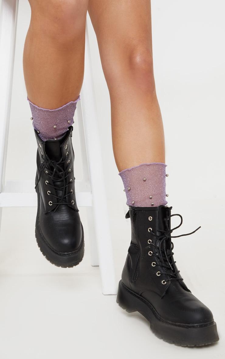 Lilac Pearl Socks 3