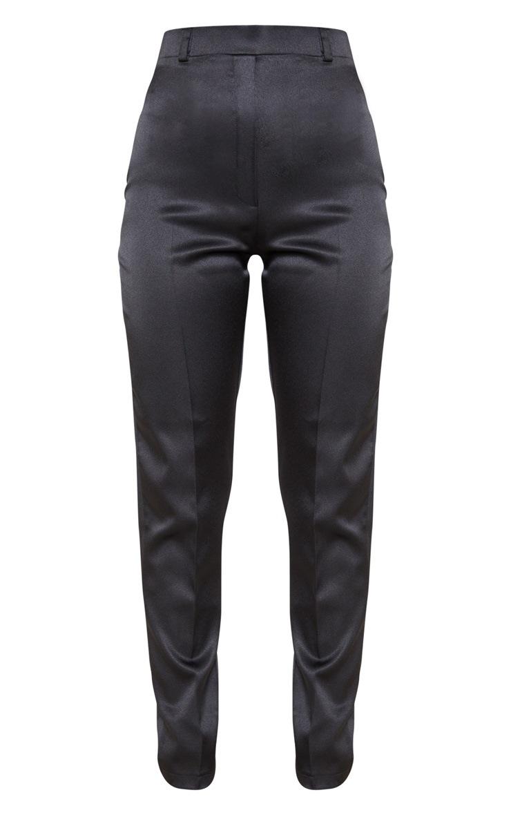 Black Matte Satin Cigarette Trouser 3