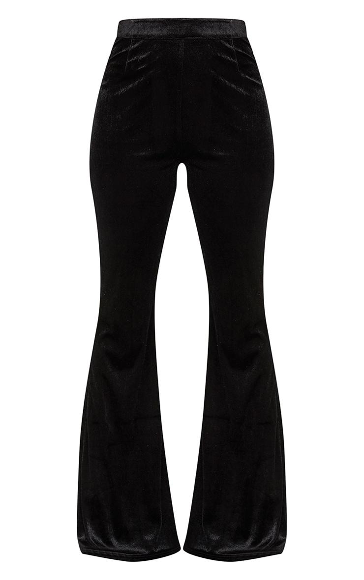 Black Velvet Tailored Extreme Flared Pants  3