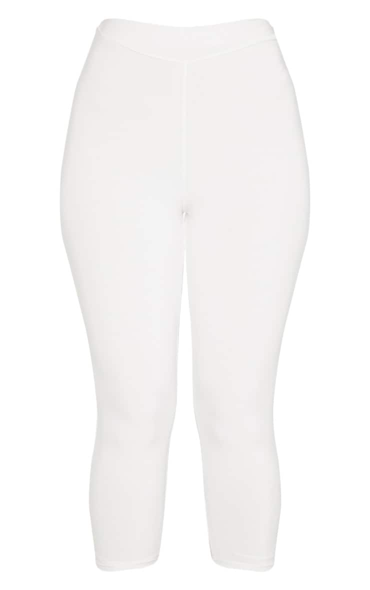 Cream Ruched Bum Cropped Legging 4