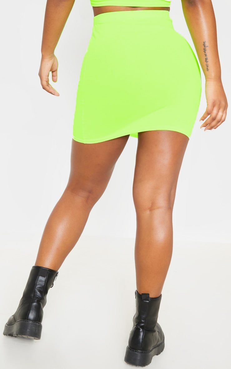 Neon Yellow Mini Skirt 4