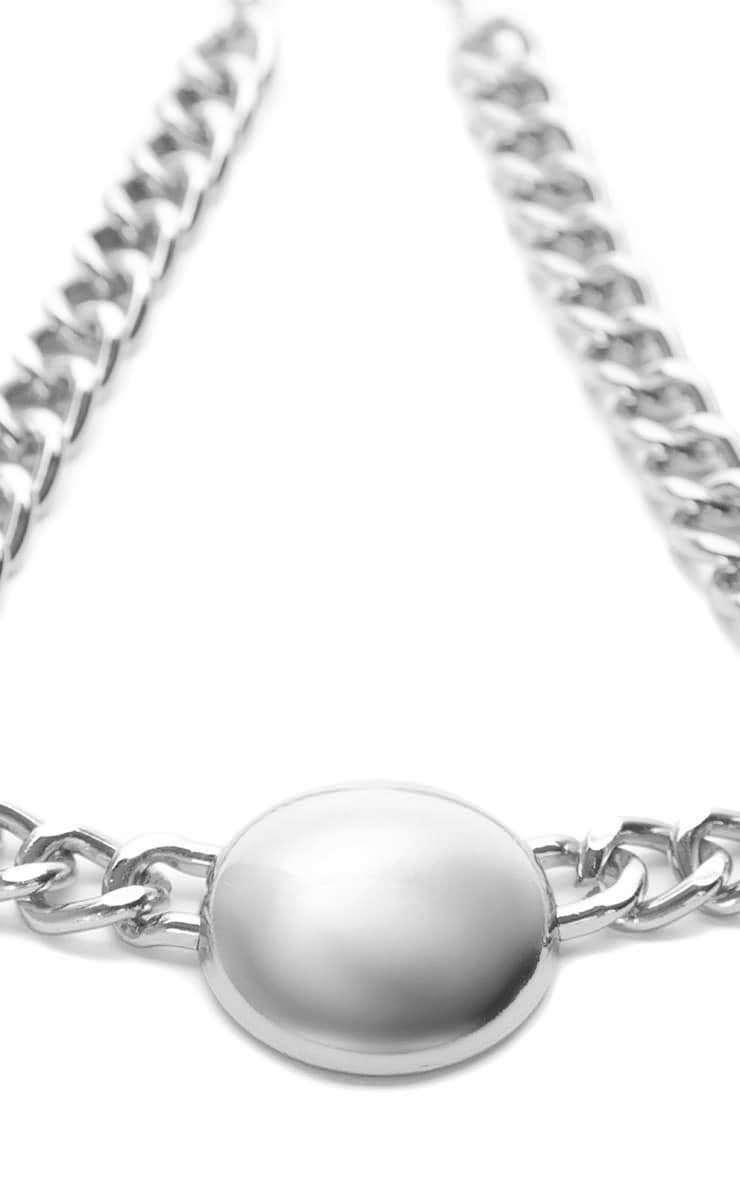 Cammy Silver Circle Chunky Chain Necklace 4