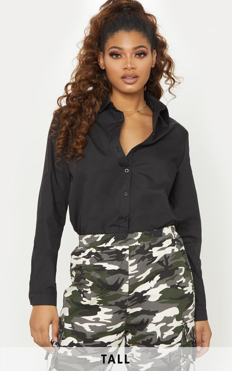 Tall Black Woven Oversized Shirt 1