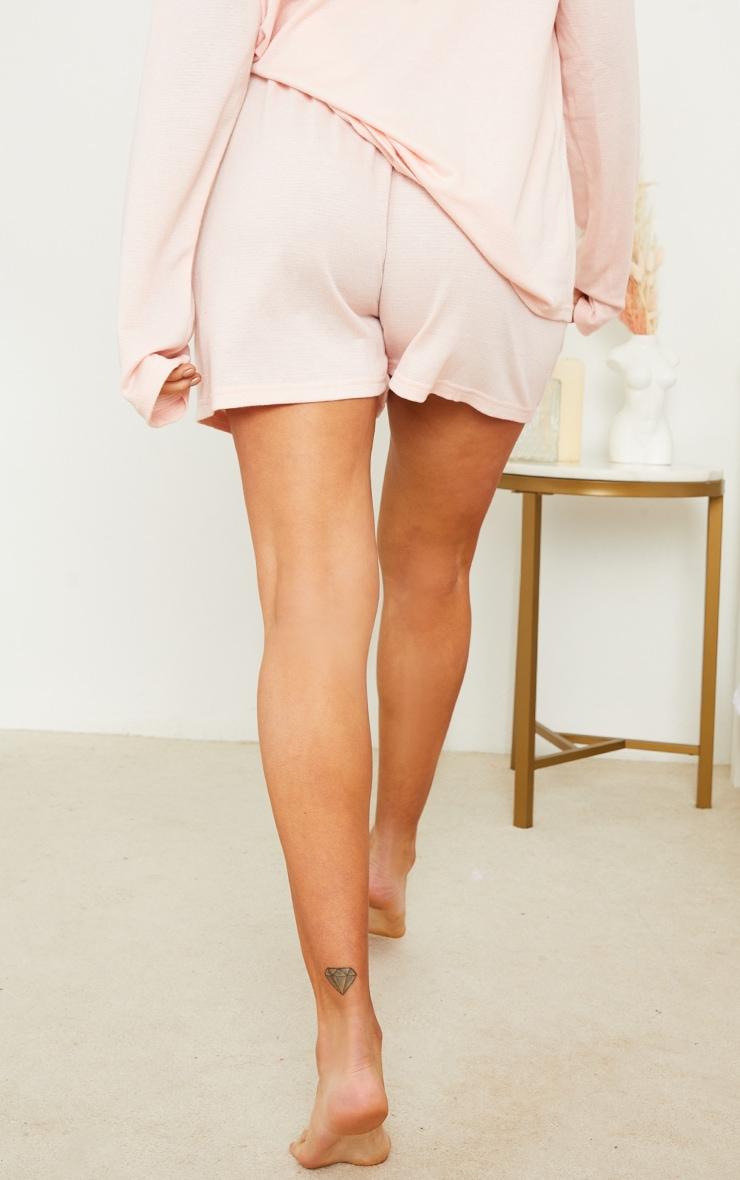 Maternity Pink Crinkle Crepe Drawstring Lounge Shorts 3