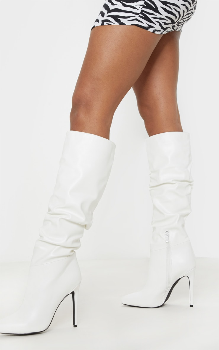 White Slouch High Point Knee Boot 1