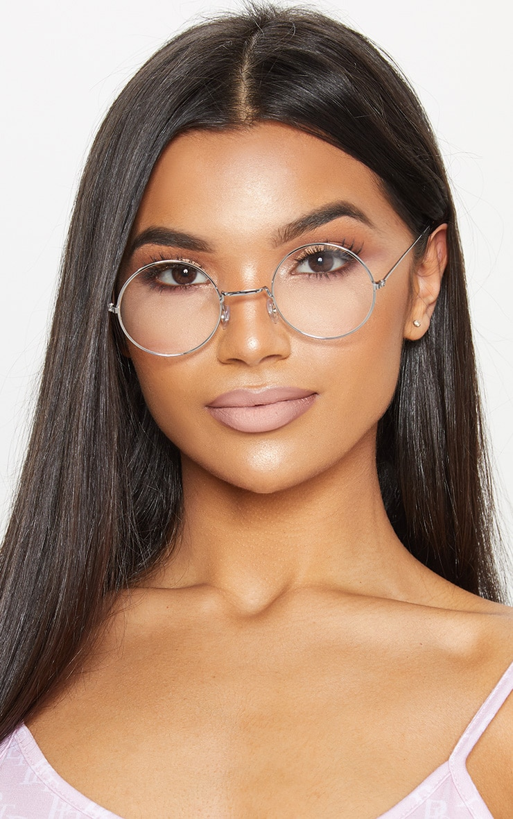 Clear Small Round Sunglasses 1