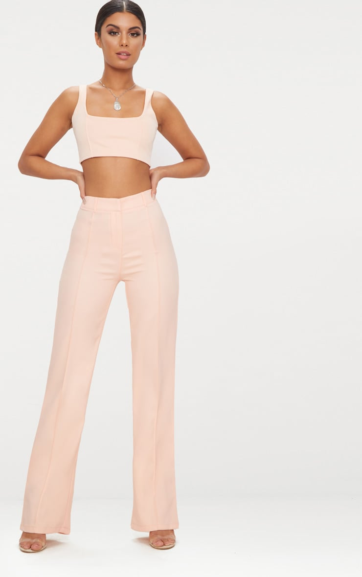 Blush High Waisted Straight Leg Trousers 1
