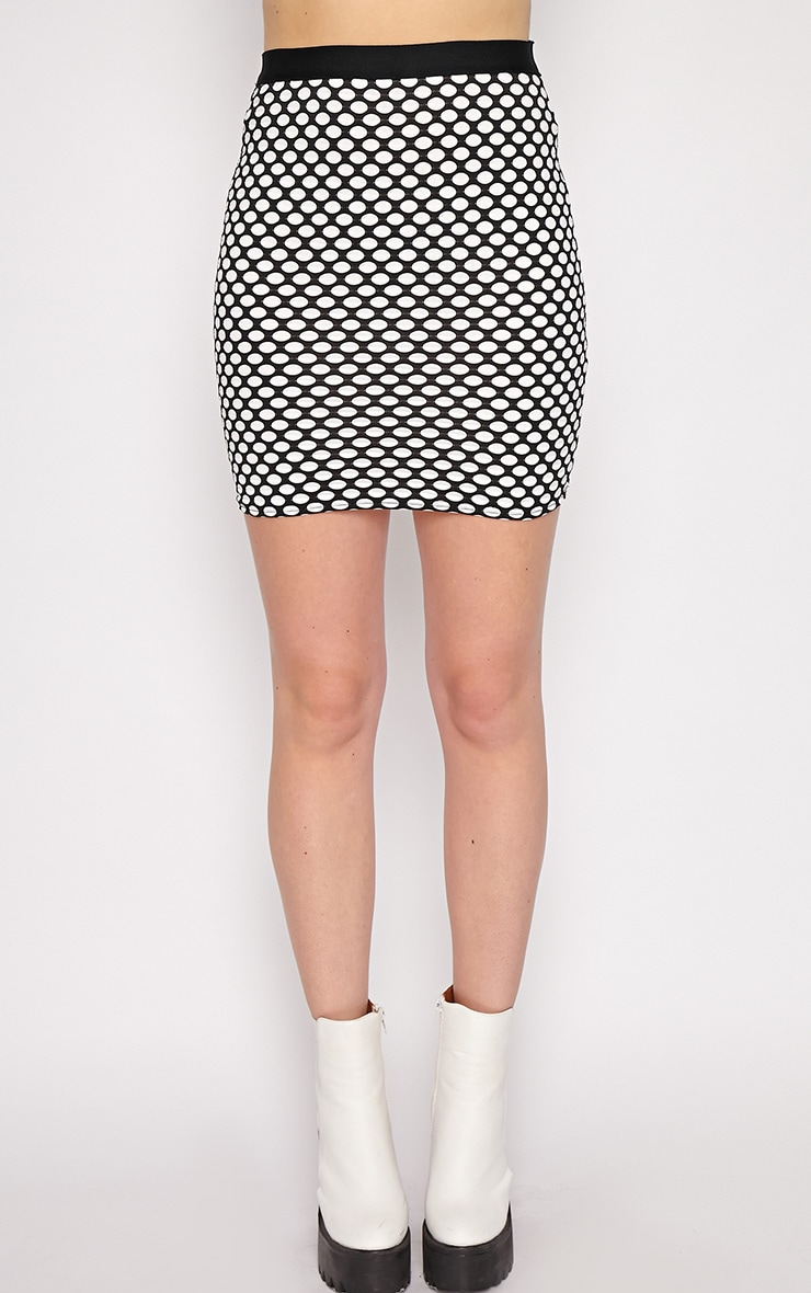 Lara White Spotted Skirt -M/L 4