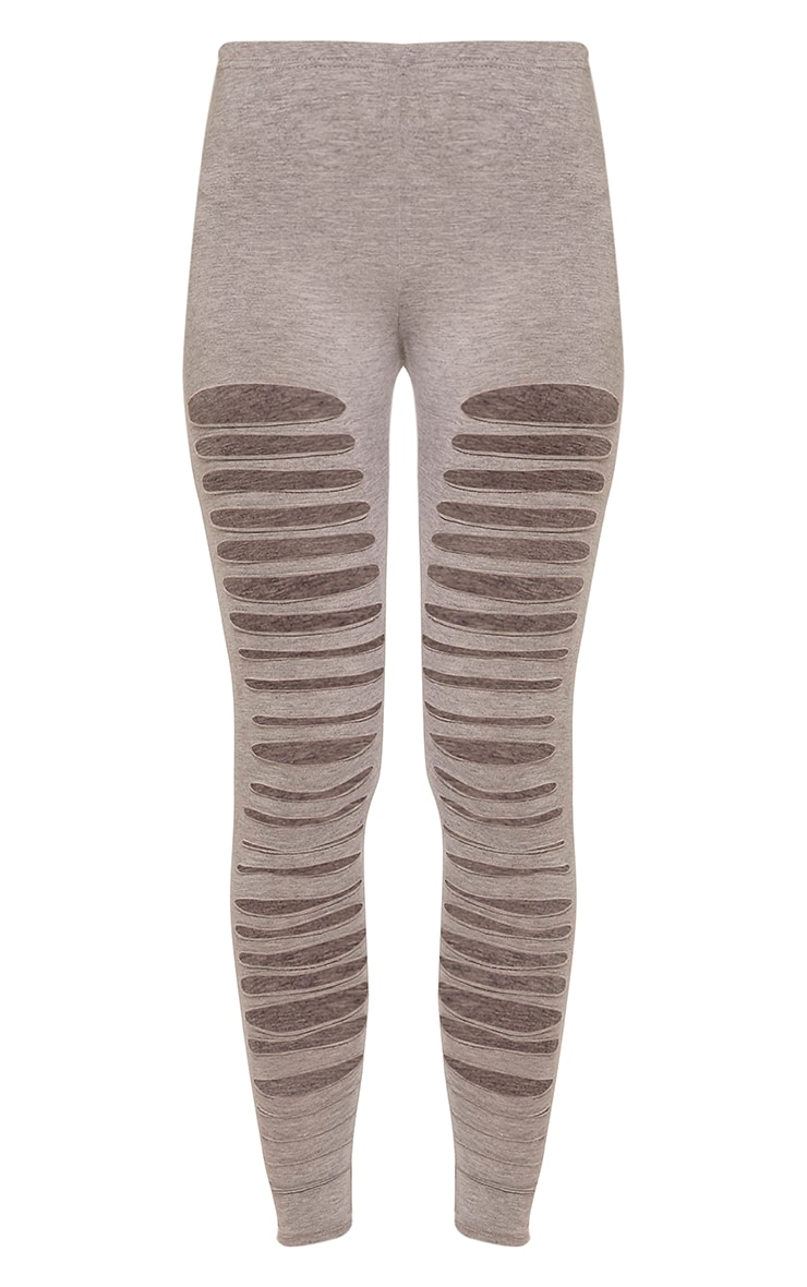 Sherry Grey Ripped Leggings 3