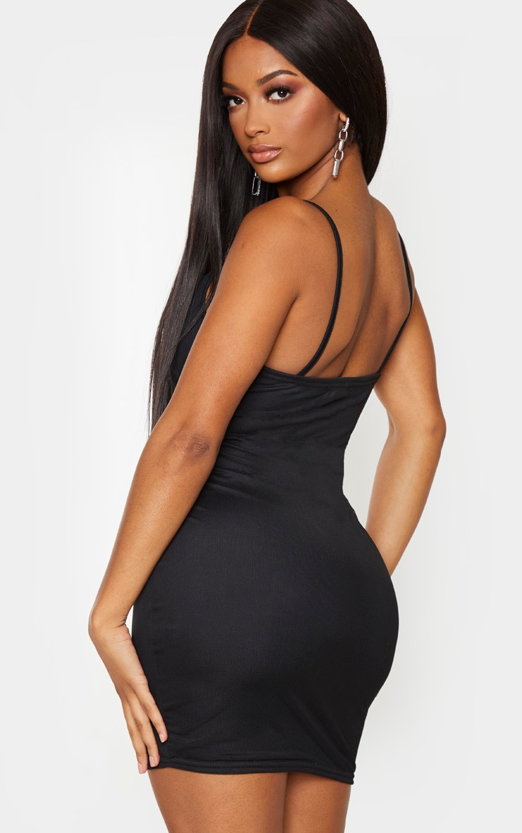 Shape Black Ruched Side Bodycon Dress 2