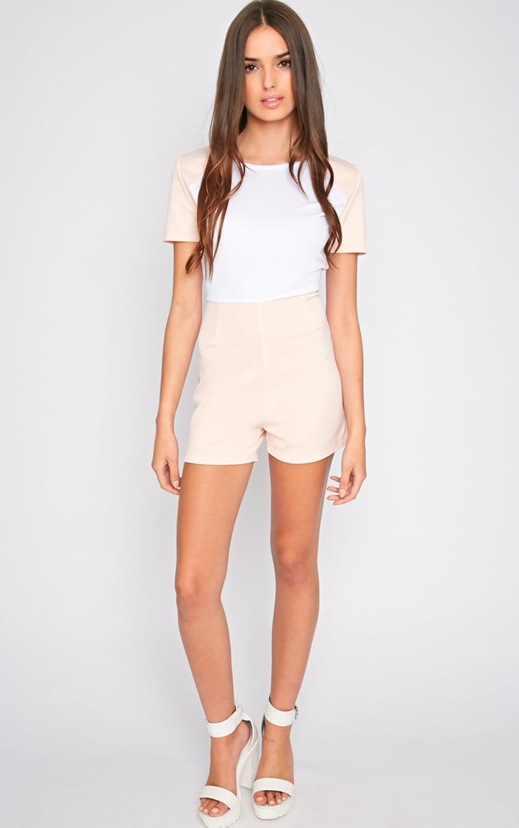 Sandra Nude Colour Block Playsuit 4
