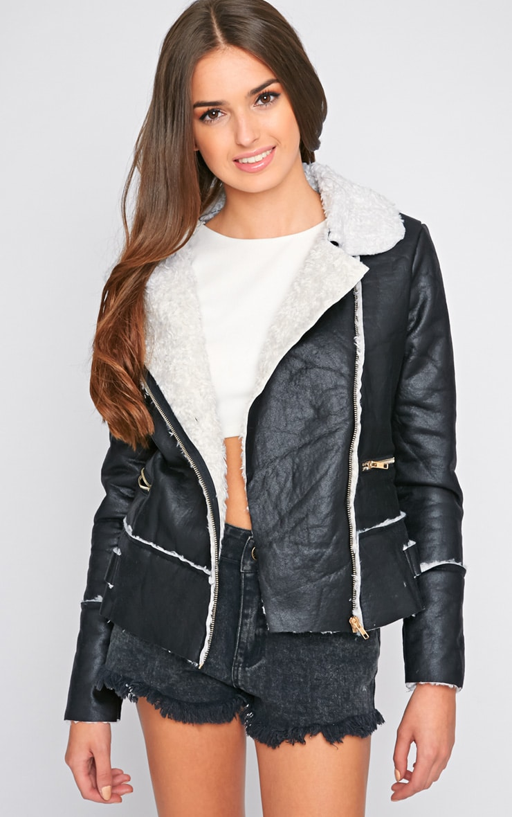 Molly Black PU Jacket  3