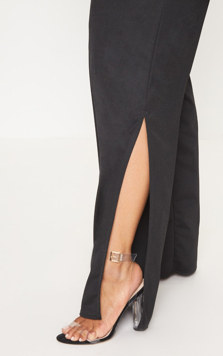 Plus Black Button Detail Bandeau Wide Leg Jumpsuit 5
