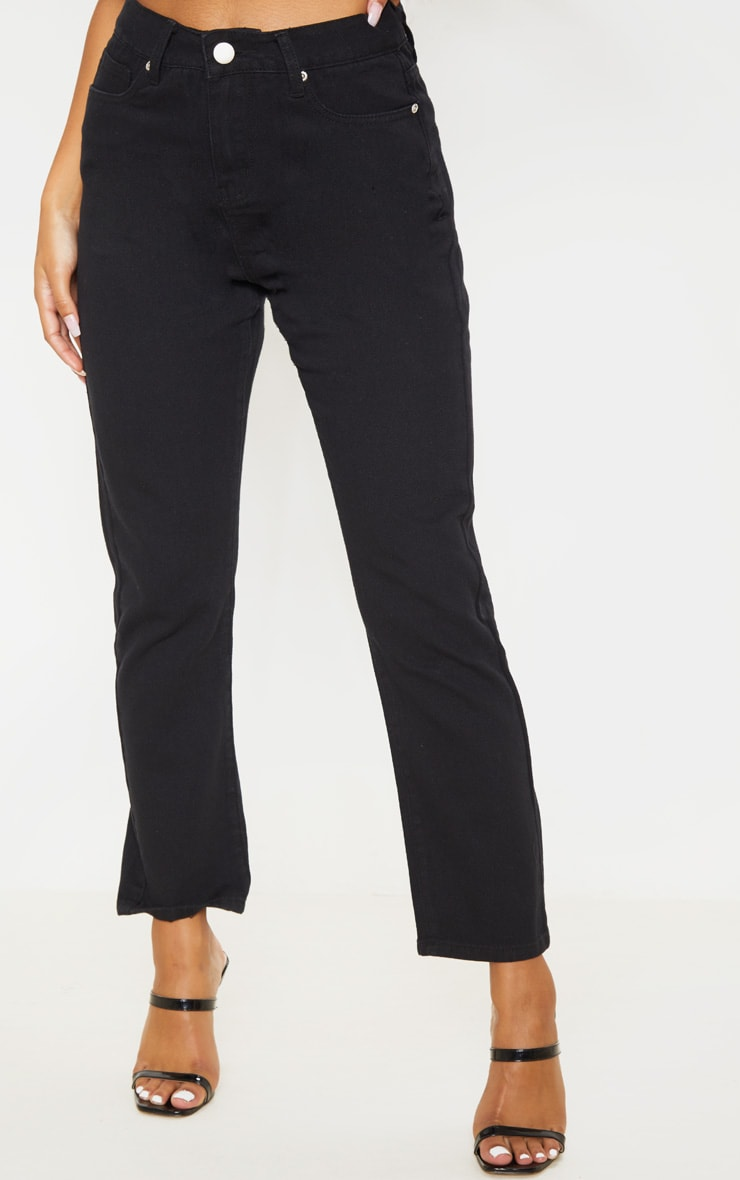 Black Basic Straight Leg Jean 2