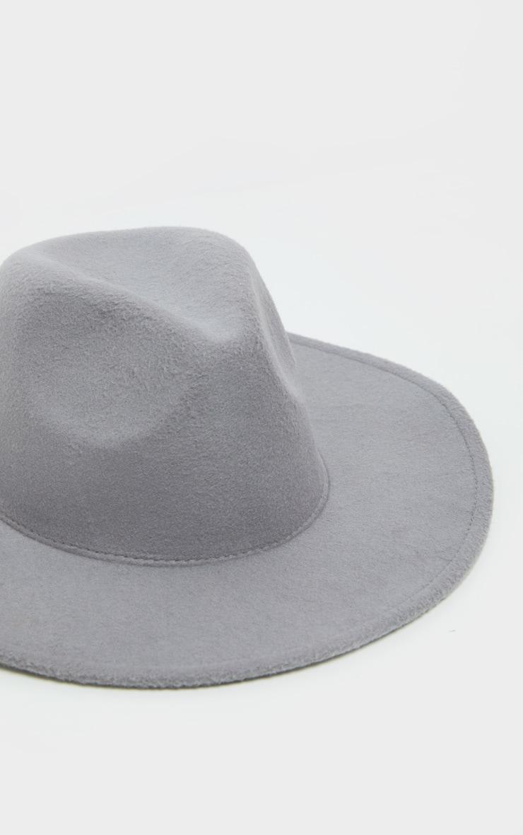 Grey Fedora Hat 3