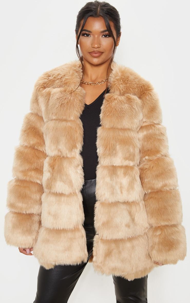 Stone Faux Fur Bubble Coat 4