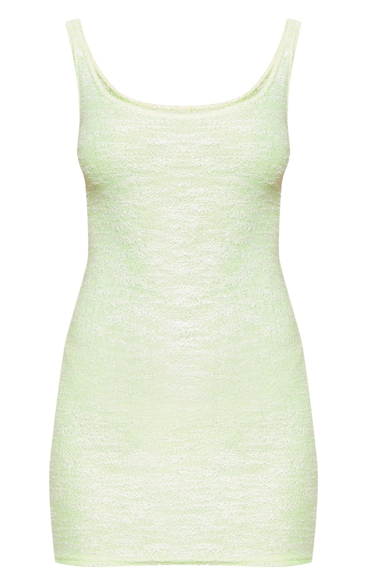 Neon Lime Knitted Mini Dress 3