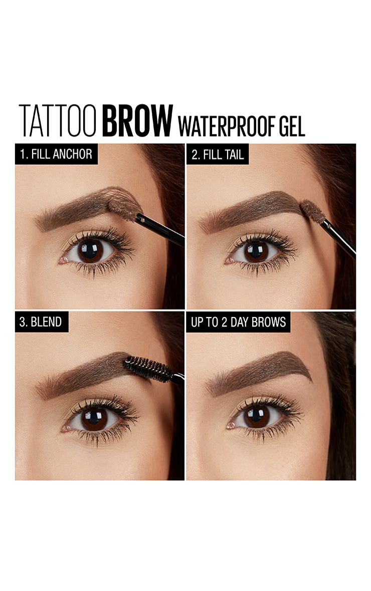Maybelline Tattoo Brow Waterproof Gel 02 Soft Brown 4