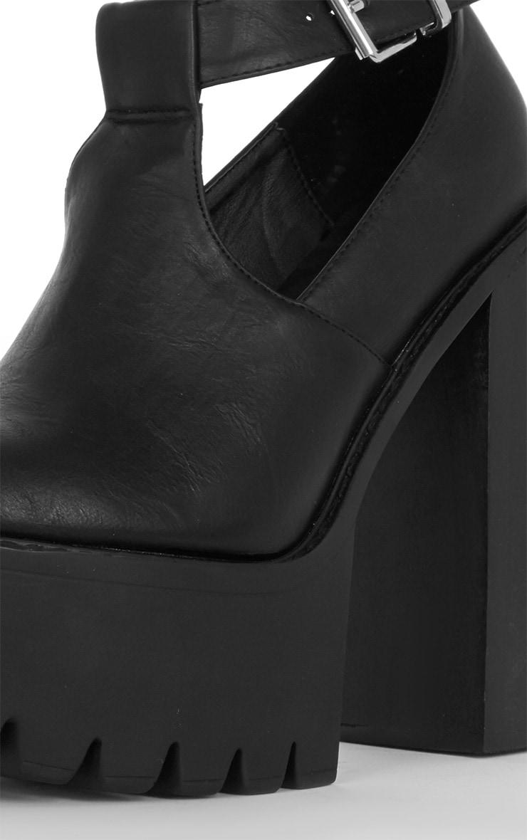 Felicia Black Chunky Heel Ankle Strap Sandal 4