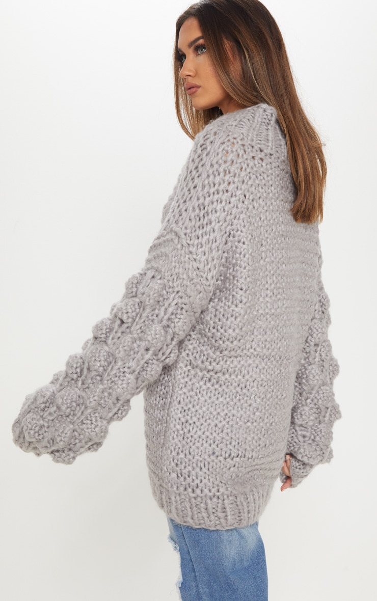 Grey Oversized Jumper Knitted 3