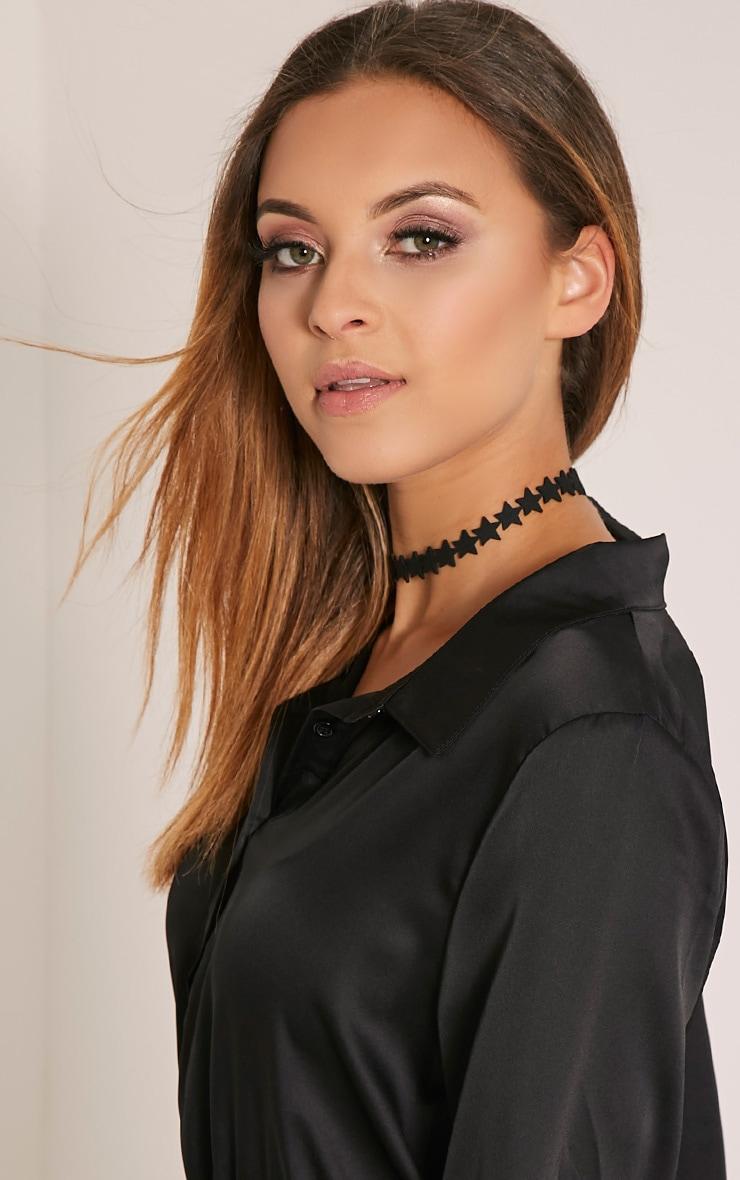 Amberlyn Black Suedette Star Choker 2