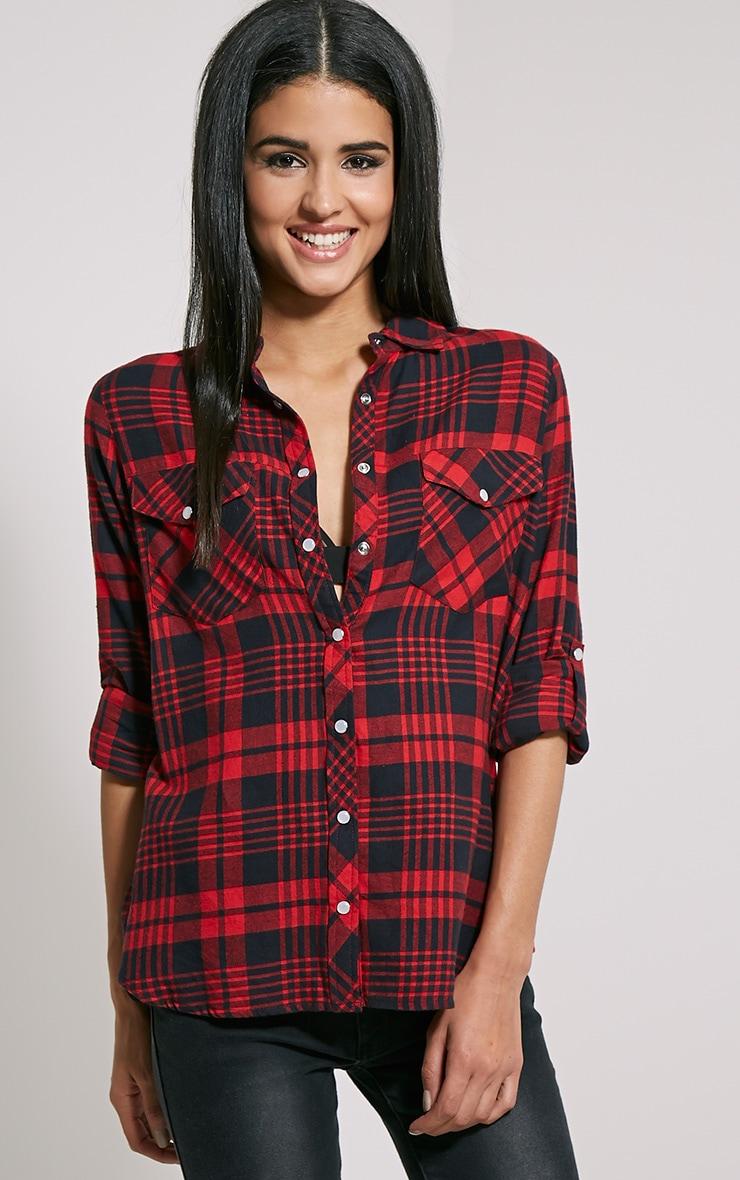 Toria Oversized Checked Shirt 4