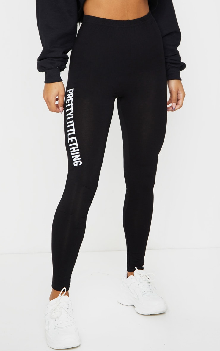 PRETTYLITTLETHING - Legging noir à slogan 2