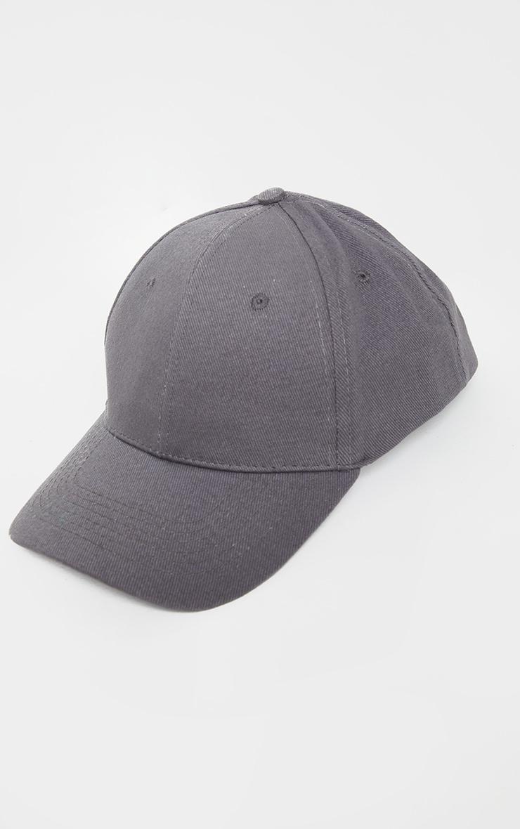 Charcoal Blue Woven Baseball Cap 2