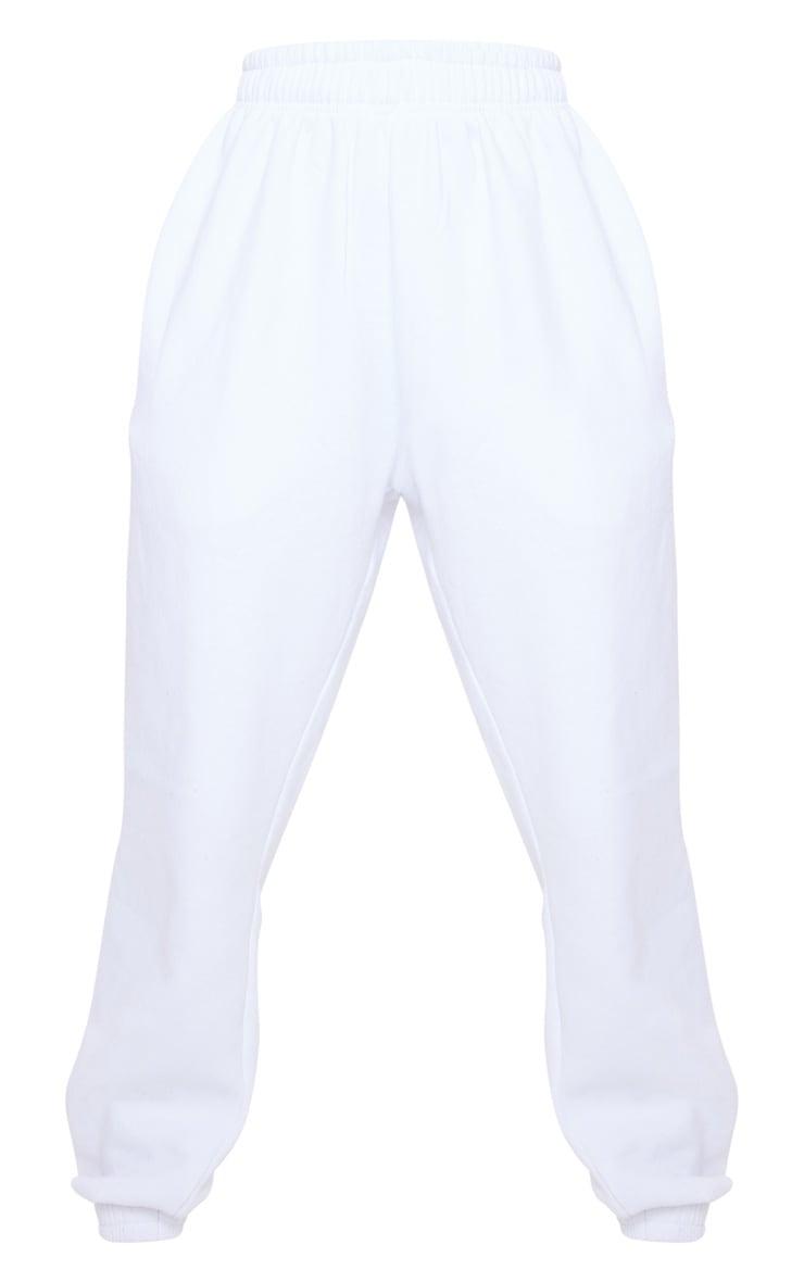 White Baby Diamante Slogan Joggers 5