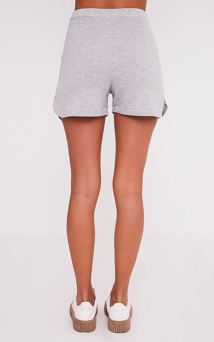 Basic Grey Jersey Runner Shorts 5