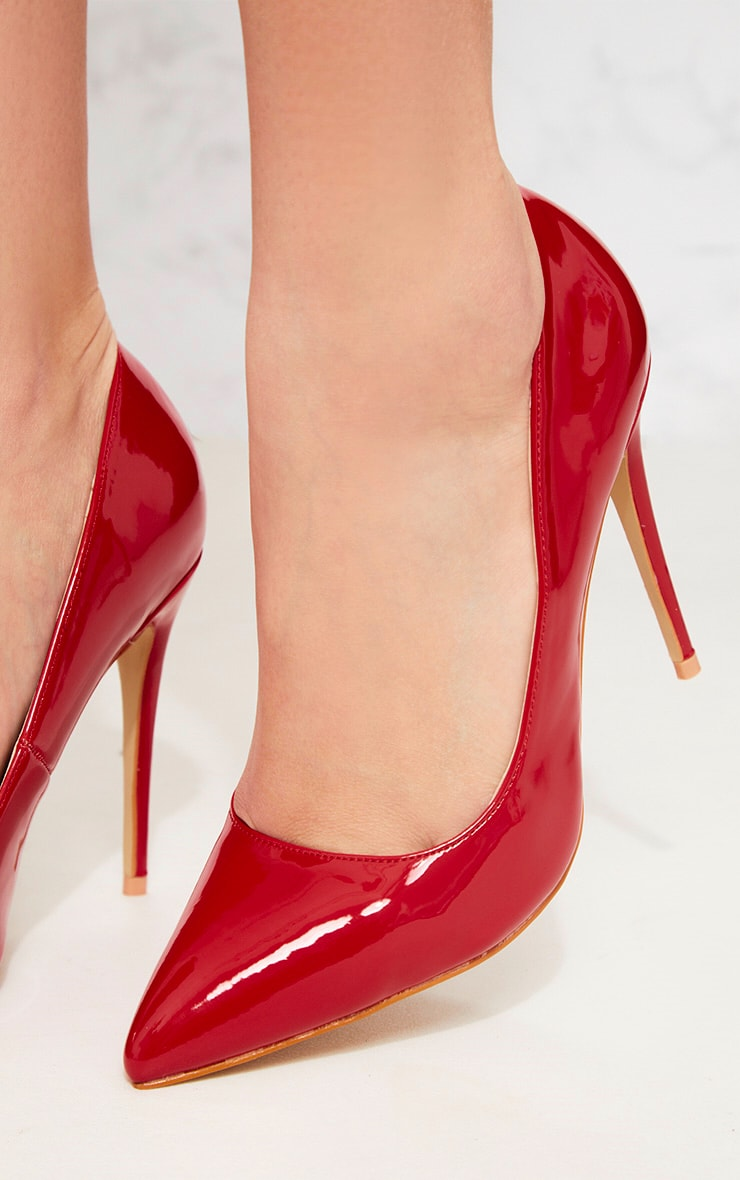 Red Patent Court Shoe 5