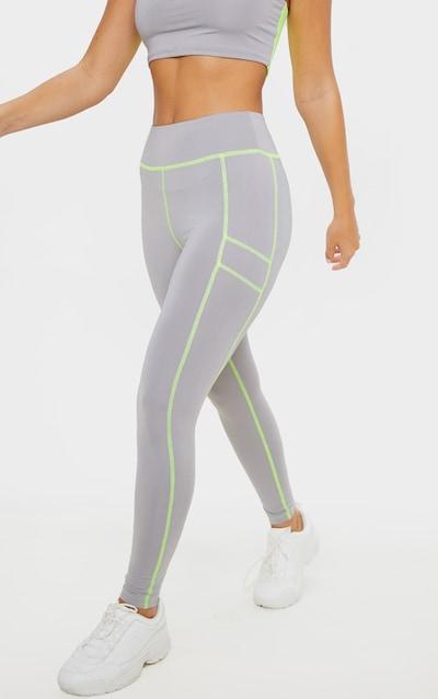Grey Panelled Gym Legging