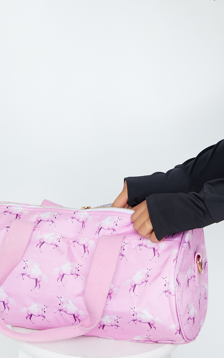 PRETTYLITTLETHING Unicorn Pink Gym Bag 3