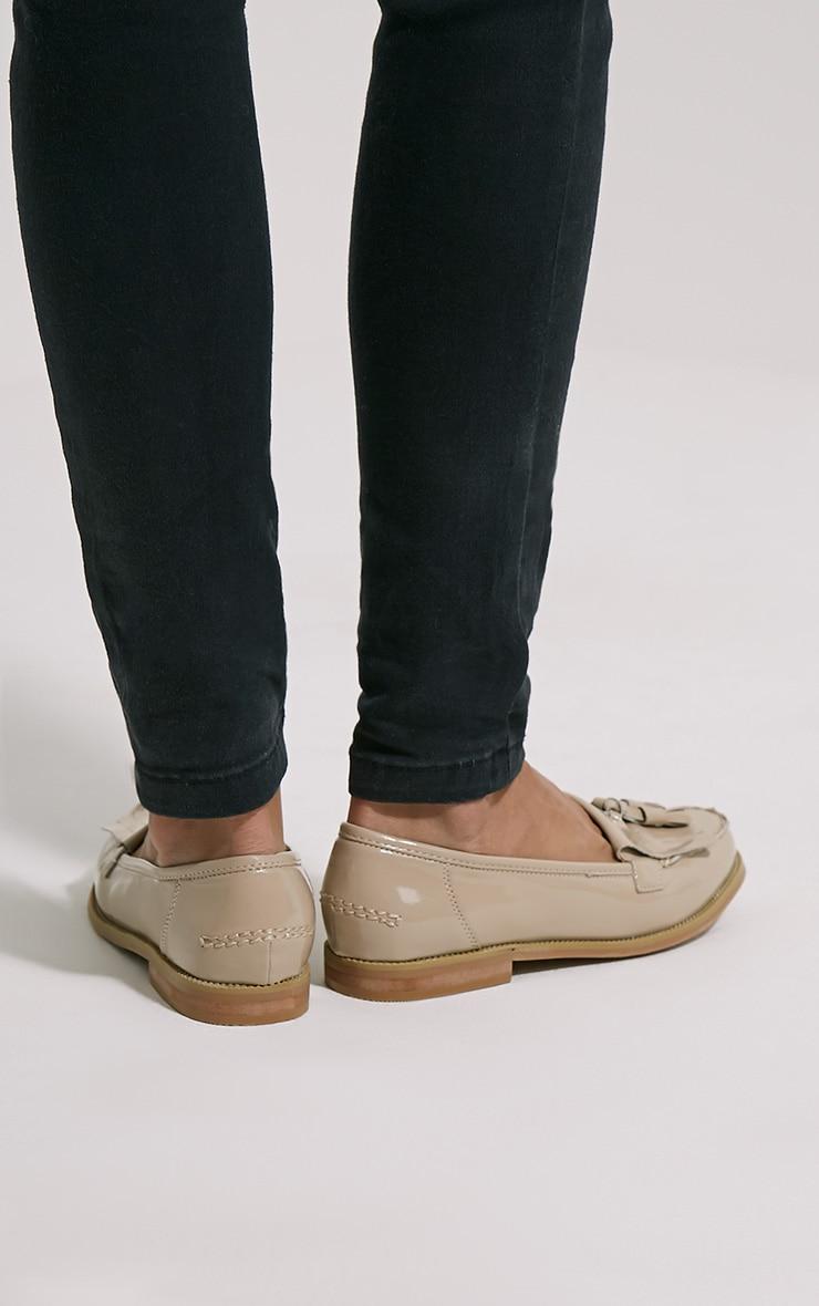 Trella Nude Patent Loafers 2