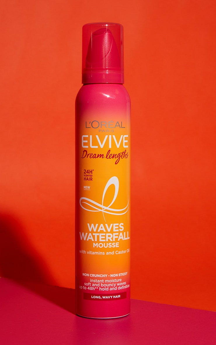 L'Oreal Elvive Dream Lengths Nourishing Waves Waterfall Mousse Long Curly Hair 200ml 1