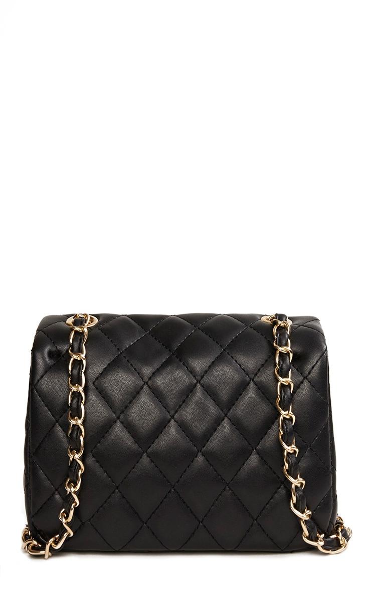 Corena Black Quilted Bag 4