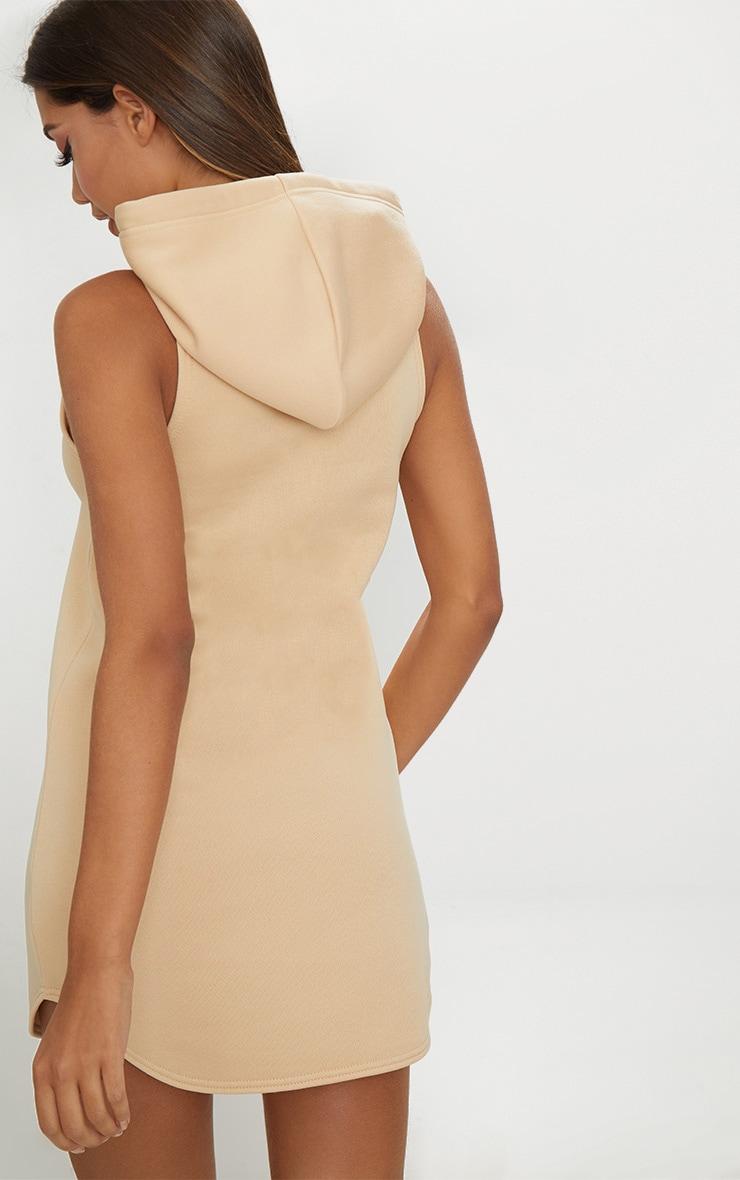 Stone Hooded Sleeveless Jumper Dress 2