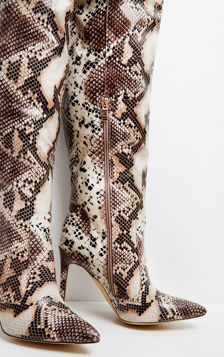 Snake Knee High Boot 4