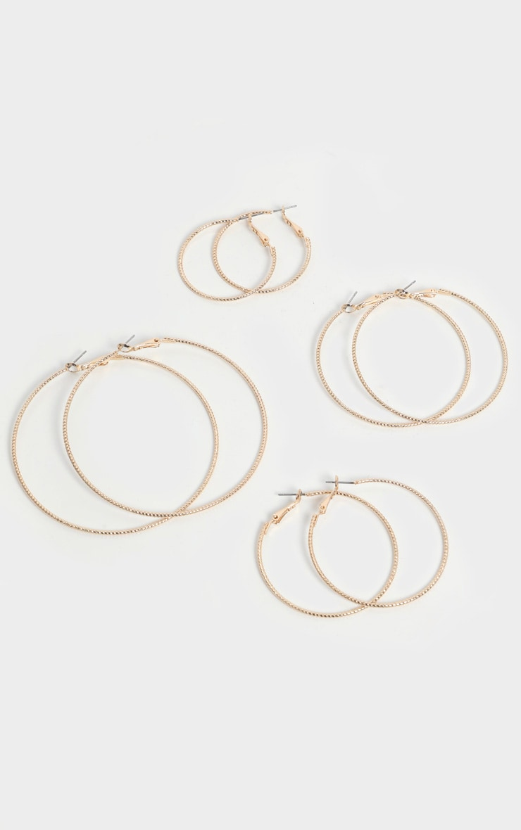Gold Bevelled Edged 4 Hoop Pack 1