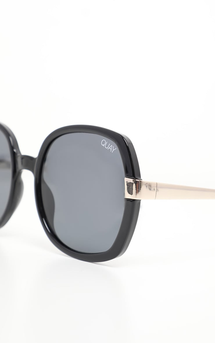 QUAY AUSTRALIA Black Gold Dust Sunglasses 3
