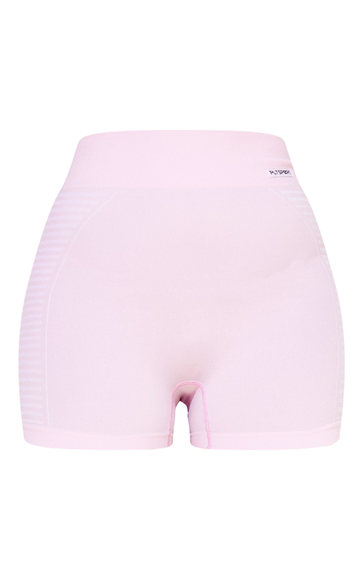 PRETTYLITTLETHING Baby Pink Seamless Bike Shorts 6
