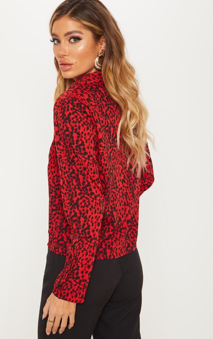 Red Leopard Button Shirt 2