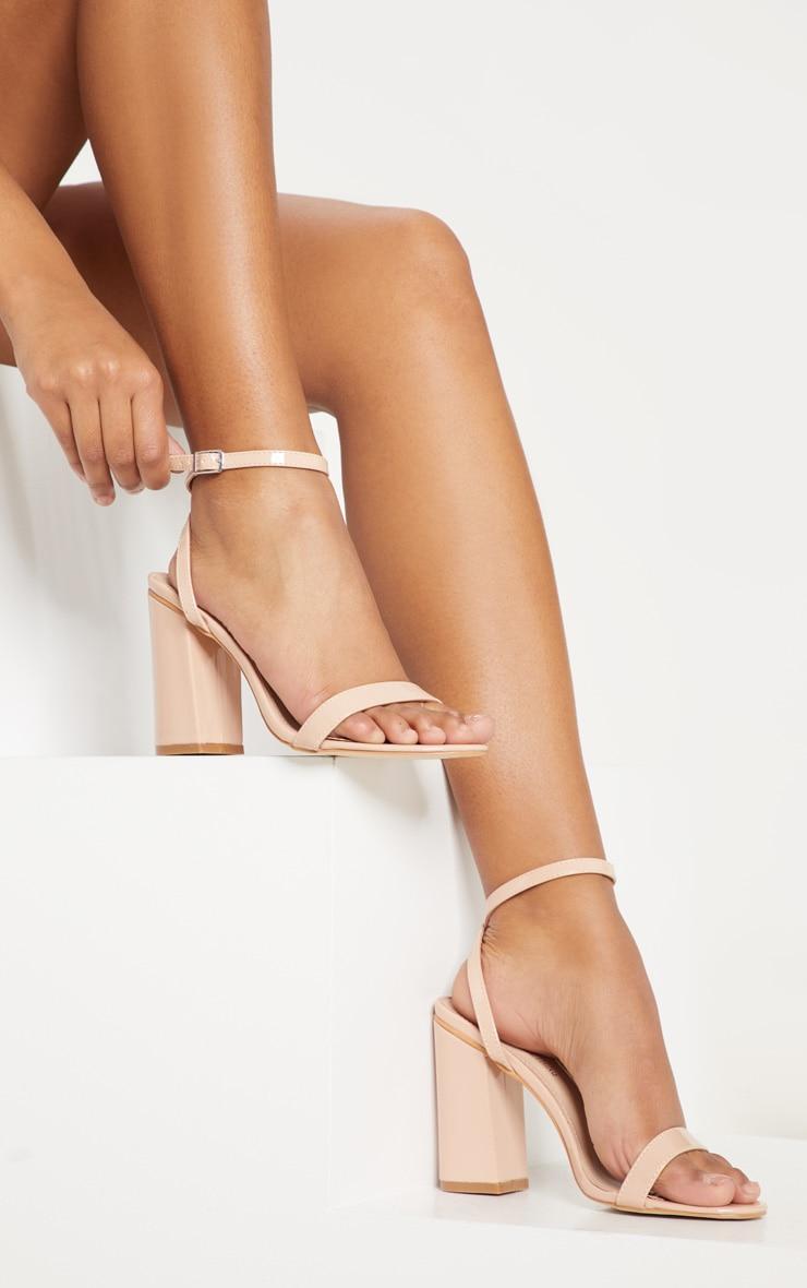 Gold Ankle Strap Block Heel image 1