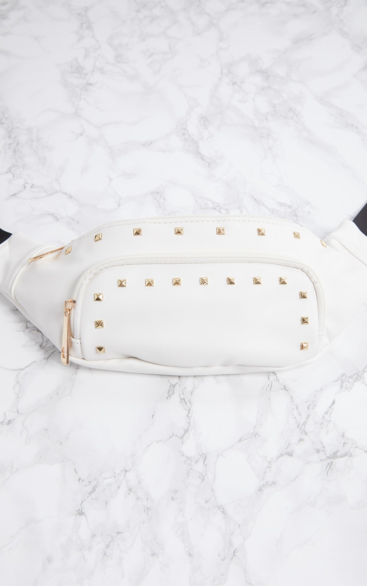 White Studded Fanny Pack 4