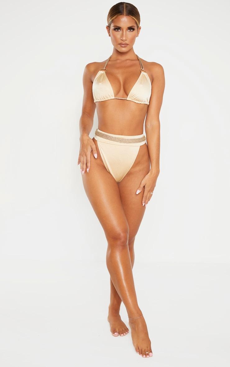 Nude Strappy Rope Bikini Top 4