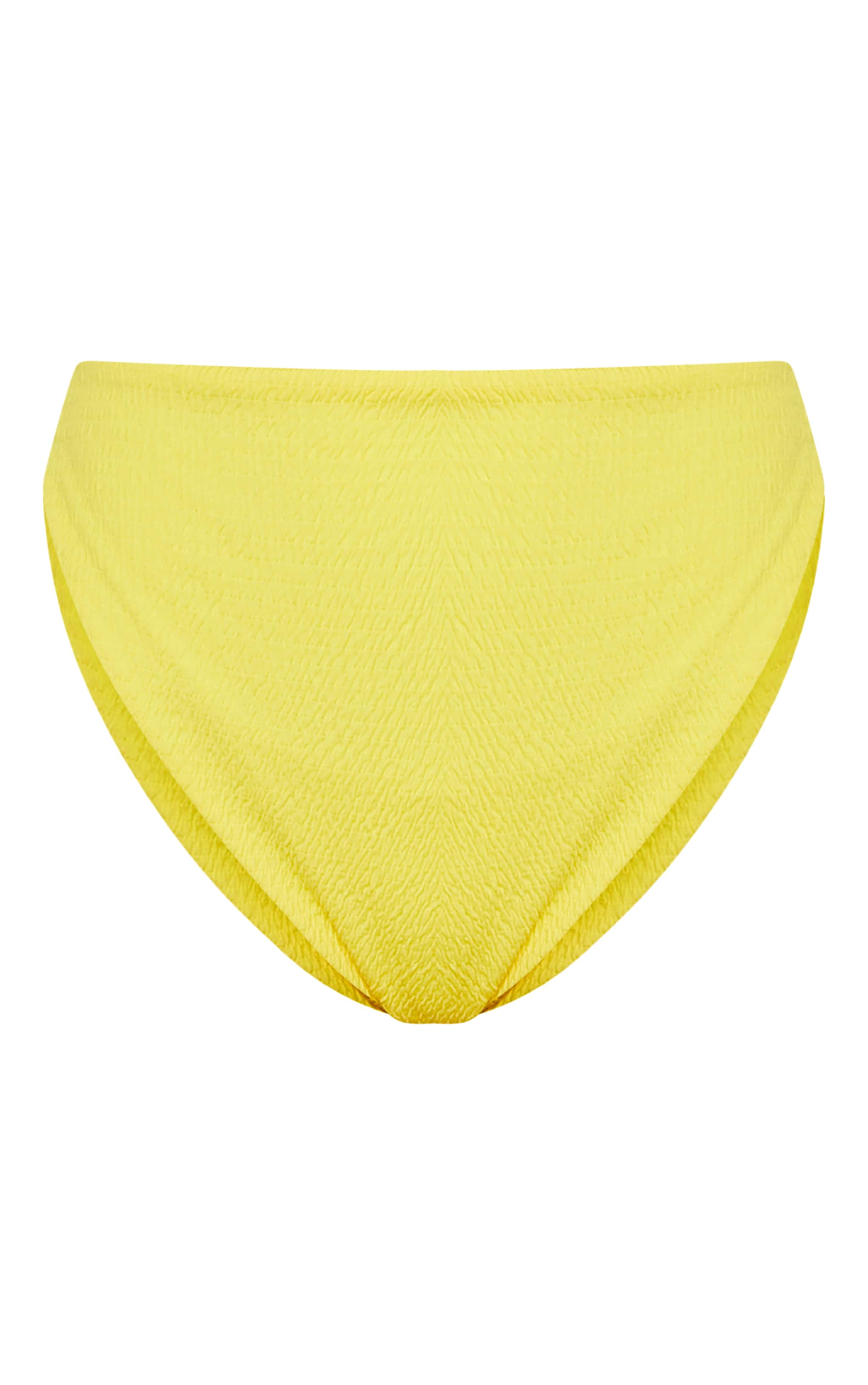 Yellow Crinkle High Waisted High Leg Bikini Bottom 3