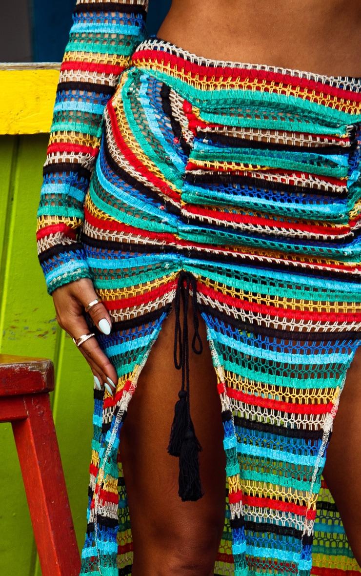 Multi Knit Double Split Beach Skirt 5