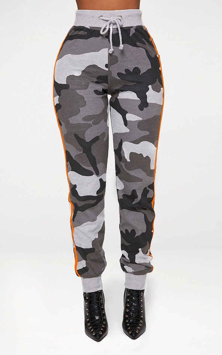 Shape Grey Camo Side Stripe Track Pants 2